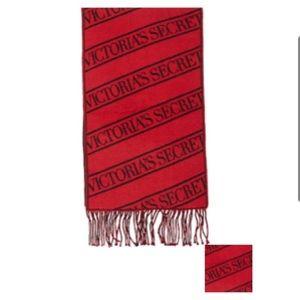 NWT! Victoria secret logo stripe scarf!